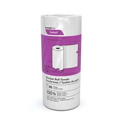 Essuie-tout blanc 11' Cascades Pro Select - 2 épaisseurs et 85 feuilles - 30 rouleaux