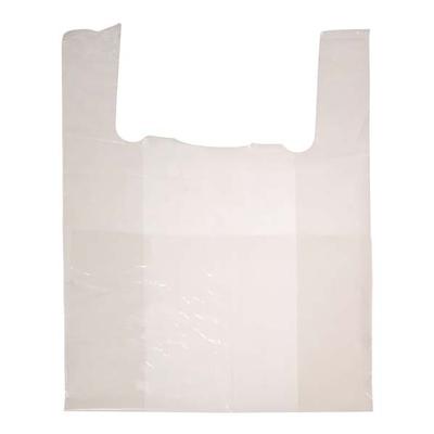 """Sacs blancs à bretelles et à poignées - Jumbo - 16"""" X 8"""" X 28"""" - 500 sacs"""