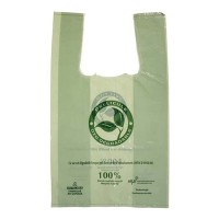 """Oxo-bio green bags with straps and handles - S1 - 8,5"""" X 5"""" X 16"""" - 1000 bags"""