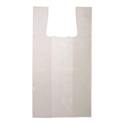 """Sacs blancs à bretelles et à poignées - S1 - 9"""" X 6"""" X 18"""" - 1000 sacs"""