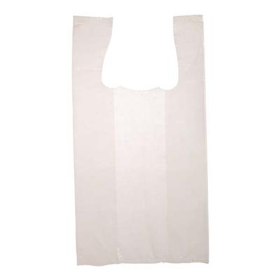 """Sacs blancs à bretelles et à poignées - S4 - 11"""" X 6"""" X 21"""" - 1000 sacs"""