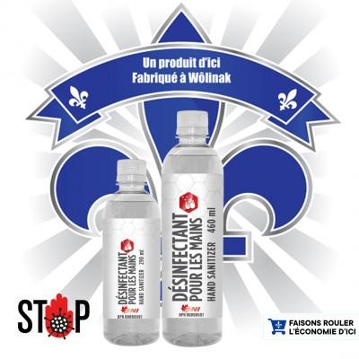 Désinfectant pour les mains 70% d'alcool – 460 ml