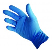 Blue vinyl gloves - medium - 100 per box