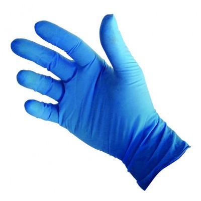 Gants de vinyle bleu - moyen - 100 par boîte