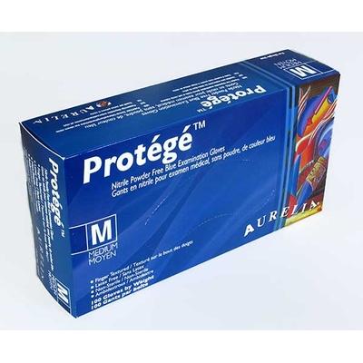 """Gants de nitrile """"Protégé"""" bleu ciel - moyen / 100 par boîte"""