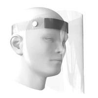 Unassembled plastic protective visor