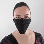 Masque réutilisable en coton mince noir