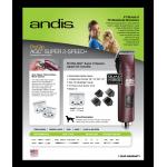 Rasoir (tondeuse) professionnel AGC 2 de Andis - Super 2 vitesses - bourgogne