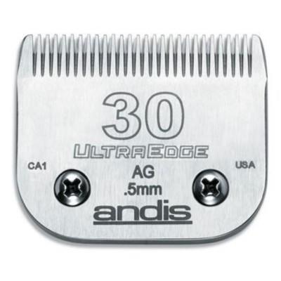 """Lame Andis # 30 pour coupe de près - 0,5 mm - 1/50"""""""