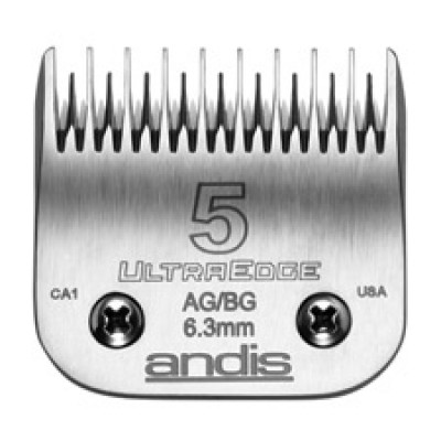 """Lame Andis # 5 pour coupe inégale - 6,3 mm - ¼"""""""