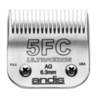 """Lame Andis # 5FC pour coupe finition - 6,3 mm - ¼"""""""