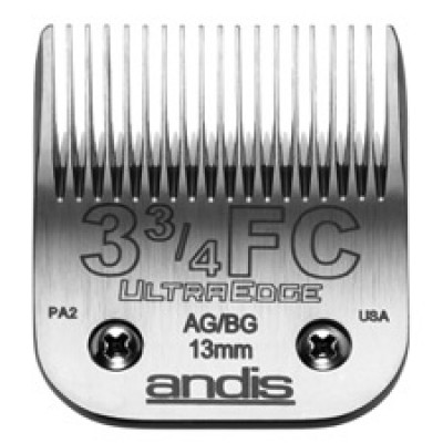 """Lame Andis # 3 ¾FC pour coupe finition - 13 mm - ½"""""""