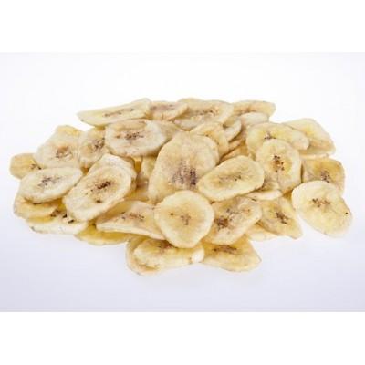 Bananes séchées, emballage de 50 g, avec étiquette pour suspendre