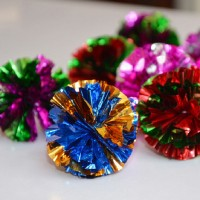 Balles en papier mylar - couleurs assortis - sac de 20