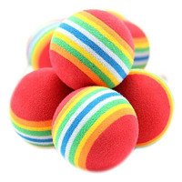 Balle multicolore en liège - boîte de 36