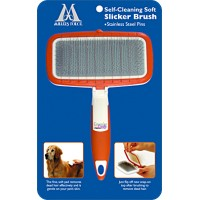 Self-Cleaning Soft Slicker Brush for dog - Large - Millers Forge