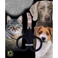 Ciseaux pour griffes de chat avec poignées noires