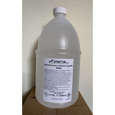 Désinfectant à mains liquide hydro-alcoolique naturel - 1 gallon