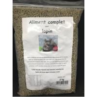 Moulée avec ingrédient contre la pasteurellose et la coccidiose, sac refermable de 2 kg