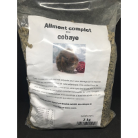 Guinea pig feed with vitamin C and ingredients against pasteurellosis and coccidiosis, 2 kg resealable bag