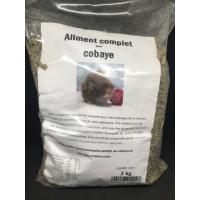 Moulée cochons d'Indes avec vitamine C et ingrédients contre la pasteurellose et la coccidiose, sac refermable de 2 kg