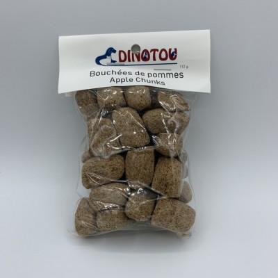 Bouchées de pommes, sac refermable de 112 g, avec étiquette pour suspendre