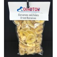 Bananes séchées, sac refermable de 120 g, avec étiquette pour suspendre