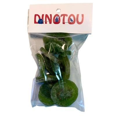 Tranches de kiwi séchées, sac refermable de 125 g, avec étiquette pour suspendre