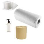 Hygiène : Papiers, masques, tabliers, distributriteurs et savons à main
