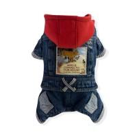 Chandail jeans à capuchon combinaison pour chien - choix de grandeurs