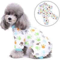 Pyjama pour chien avec imprimé pattes - choix de grandeurs