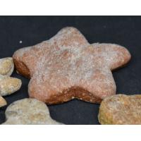 Biscuit en forme d'étoile au fraise et yogourt