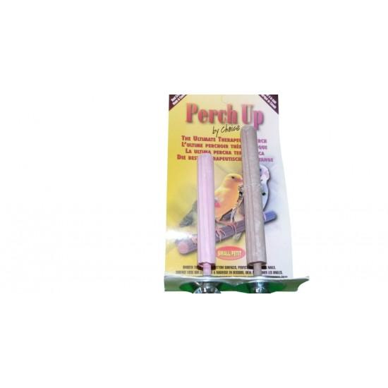 """Perchoir combo en ciment rainuré - 12 mm x 7½ cm (½"""" x 3"""") + 12 mm x 10 cm (½"""" x 4"""") - PERCH UP - Couleurs variées"""