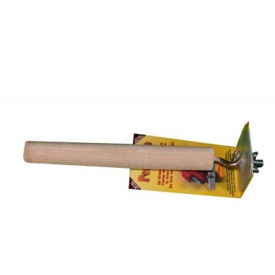 """Perchoir en ciment rainuré - 32 mm x 25 cm (1½"""" x 10"""") - PERCH UP - Couleurs variées"""