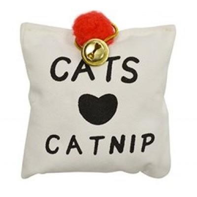 Coussin d'herbe à chat avec clochette