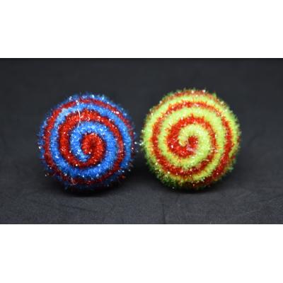 Balles brillantes 4.5 cm - couleurs assortis
