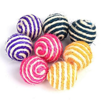 Balles en sisal - 5.5 cm - couleurs assortis