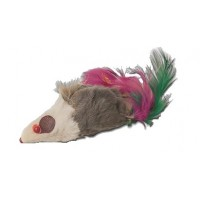 Furry mouse with feathers