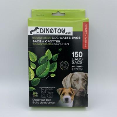 Sacs biodégradables et parfumés pour déjections canines - 150 sacs