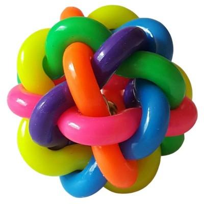 Balle colorée en caoutchouc avec grelot