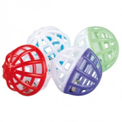Tinkling trellis ball with bell - 48 per bag