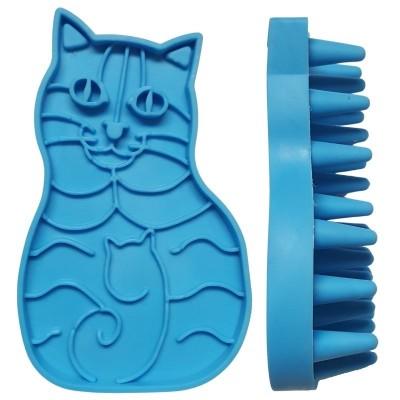 Brosse de toilettage en forme de chat - 11 cm
