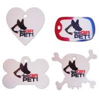 Médailles SEQRPET en gravoply - pour chats - Plusieurs modèles